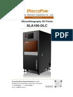 Protofab Sla100 3d Printer Specification