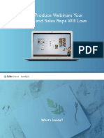 How to Produce Webinars Your Prospects and Sales Reps Will Love