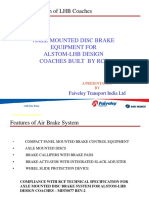 Axle Mounted Disc Brake Equipment for LHB Design Coaches