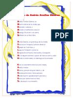 Acróstico de Andrés Avelino Cáceres