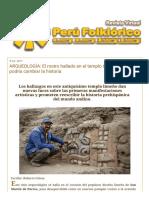 PERÚ FOLKLÓRICO_ ARQUEOLOGÍA_ El Rostro Hallado en El Templo Garagay de Lima Podría Cambiar La Historia