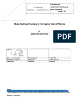 Hydro Testing Procedure - ZVV-JASH-R0
