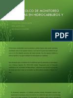 Protocolco de Monitoreo de Aguas en Hidrocarburos y