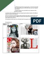 Music Magazines Comparison