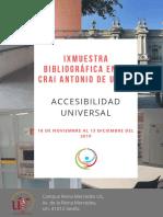 IX Muestra Bibliográfica sobre Accesibilidad Universal, en el CRAI Antonio de Ulloa
