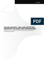 Splunk Security Use case Detecting Unknown Malware and Ransomware