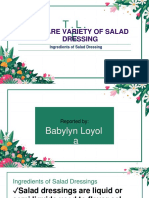 Ingredients of Salad Dressings