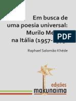 Em busca de uma poesia universal_Murilo Mendes na Itália