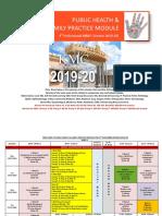 Public Health Family Practice Module Timetable