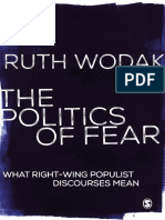 Ruth Wodak - The Politics of Fear_ What Right-Wing Populist Discourses Mean-Sage Publications (2015)