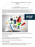 Fundamentals of Science & Technology