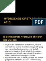 Acid hydrolysis of starch