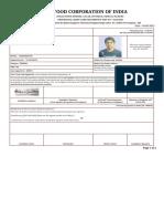 FCI Admit Card