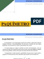 Metrologia Paquímetro