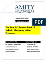 RBI IMPACT ON INDIAN ECONOMY