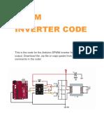Spwm Inverter Onda Seno Code Arduino