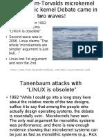 Tanenbaum - Torvalds discussion