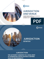 Jurisdiction and Venue