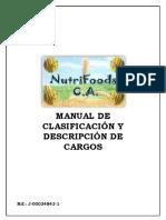 Descripciones de Cargos NutriFoods