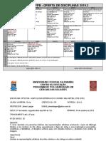Ppgcr Oferta Disciplinas 2019.2