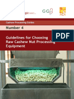 Guidelines for Choosing Raw Cashew Nut Processing Equipment