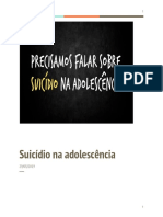 O Suicídio Na Adolescência