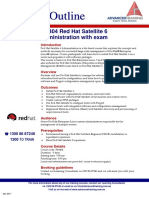 Red Hat Satellite 6 Administration With Exam