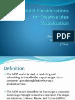 AIDA Model Considerations for Creative Idea Visualization