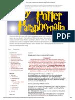 Harry Potter marauder map
