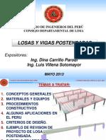 Losas y Vigas Postensadas - Luis Villena