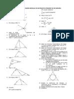 Balotario Para El Examen Mensual de Matematica Primero de Secundaria