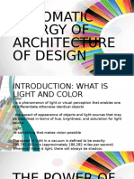 Chromatic Energy of Architecture of Design (1)