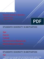 Student's Diversity in Motivation