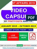 Current Affairs 2019 Video Capsule by Pratiyogita Mantra.pdf