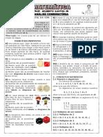 Apostila de Análise Combinatória (7 Páginas, 74 Questões) 2º REGULAR