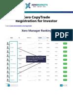 Guide for Investor Copytrade Xero Markets