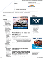 Calculadora de Costo Por Km en Auto