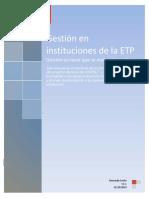 Gestión en Instituciones de La ETP