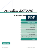 PowerShot SX70 HS Advanced User Guide En