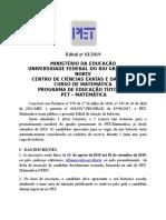 Edital Seleção PET 2019.2