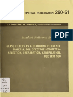 Standard Reference Materials - Glass Filters as a Standard Reference Material for Spectrophotomety