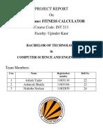 Fitness Calculator Python Project