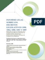 Informe Legal DL 1090, 1064, 1080, 1081, 1089 Bagua