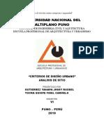 Investigacion de Diseño Urbano Analisis de Sitio (1)