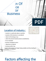 Location of Service Sector Business
