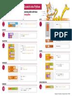 Cheat Sheet Tunring Scratch Into Python A3 DIGITAL