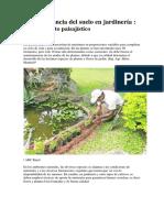 La importancia del suelo en jardinería
