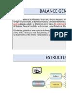 Balance General Estructura FINANZAS 1