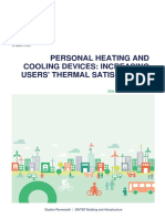 Personal Heating and Cooling Devices- Increasing Users' Thermal Satisfaction. a Literature Study
