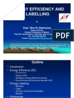 Energy Efficiency, Audit and Labeling